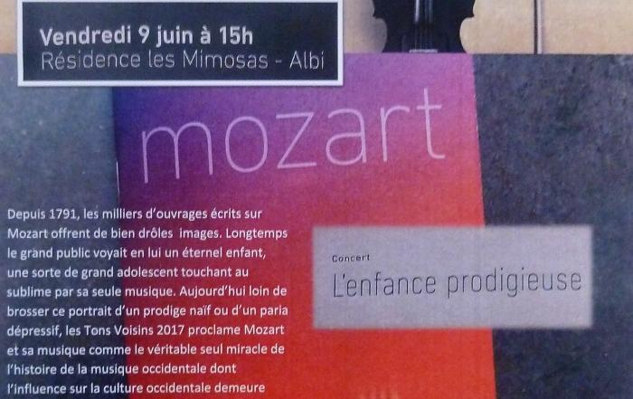 FESTIVAL Tons Voisins «For ever Mozart» aux Mimosas